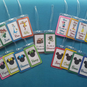 Set of Three Custom Luggage Tags for Your Disney World - Land - Cruise Vacation