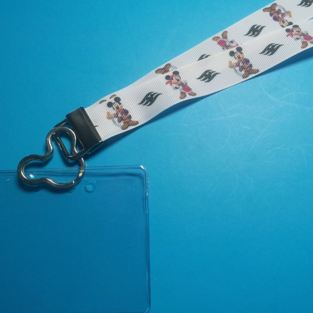 Disney Lanyard  - for KTTW - Disney Cruise - DCL - Swashbuckling Mickey & Minnie - Non-scratchy - Child or Adult