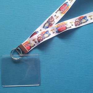 Disney KTTW Card Holder/Lanyard  - Cars - Non-scratchy - Child or Adult