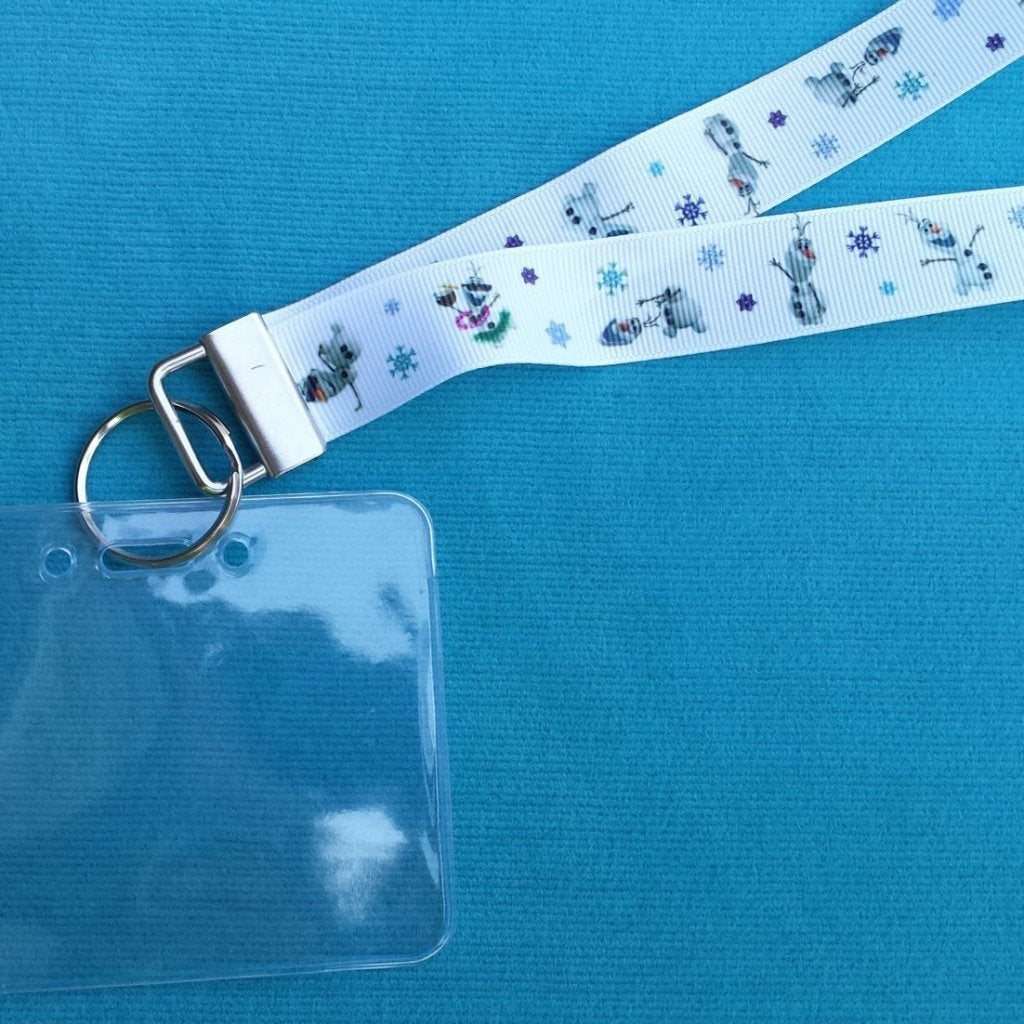 Disney KTTW Card Holder/Lanyard  - Frozen - Olaf - Do you wanna build a snowman?! - Non-scratchy - Child or Adult
