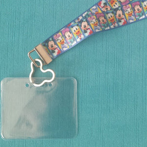 Disney KTTW Card Holder/Lanyard  - Disney Characters - Non-scratchy - Child or Adult