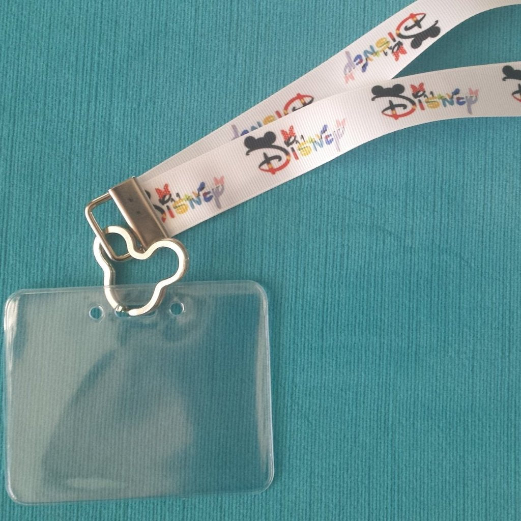 Disney Cruise Lanyard - Disney World Lanyard - KTTW Card Holder - Disney with Character - Non-scratchy - Child or Adult
