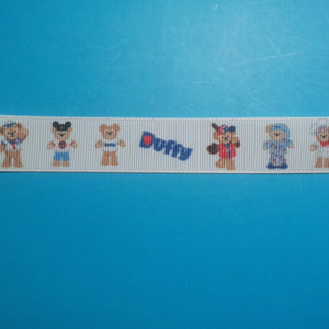 "Duffy the Disney Bear 7/8"" Grosgrain Ribbon - Exclusive Design!  Limited!!"