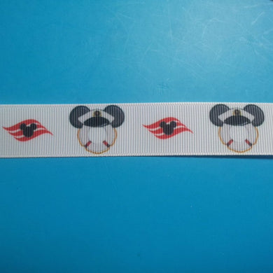 "Disney Cruise 7/8"" Grosgrain Ribbon - by the yard - Exclusive Design/Limited Availability!"