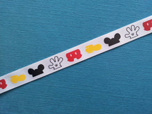 "Mickey Parts 7/8"" Grosgrain Ribbon"