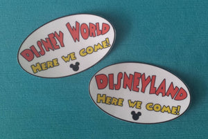 Disney World or Disneyland Here We Come! Bumper Sticker or Car Magnet