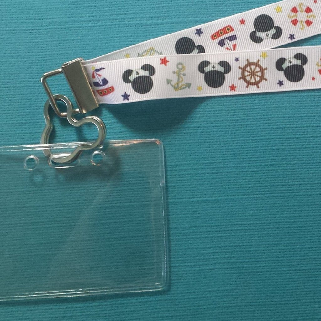 Ribbon Lanyard  - for KTTW card - Disney Cruise - DCL - Nautical Mouse - Mickey - Non-scratchy - Child or Adult