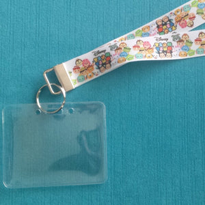Disney KTTW Card Holder/Lanyard  - Tsum Tsums - Non-scratchy - Child or Adult
