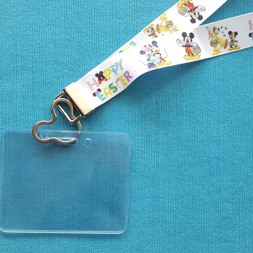 Disney Lanyard  - for KTTW card - Disney Cruise - DCL - Happy Easter Mickey & Minnie - Non-scratchy - Child or Adult