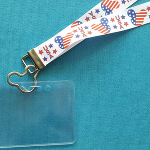Disney Lanyard - for KTTW Card - DCL - Patriotic Mickey - Non-scratchy - Child or Adult
