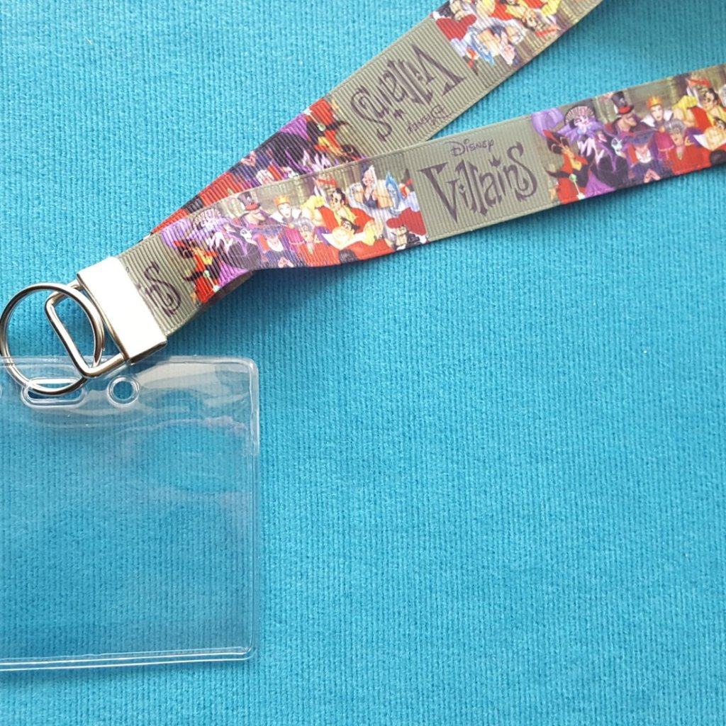 Disney Lanyard - for KTTW Card - DCL - Disney Villains - Non-scratchy - Child or Adult