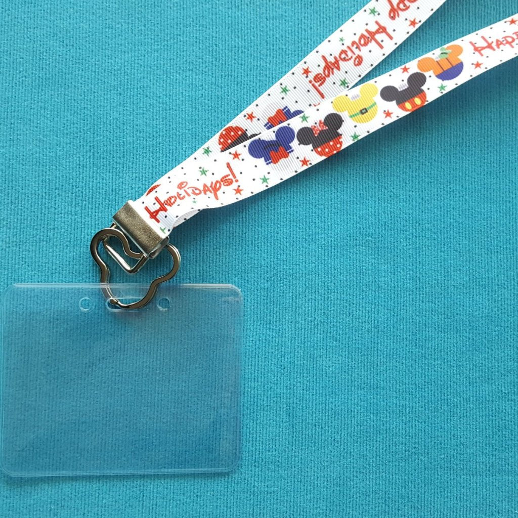 Disney Lanyard  - for KTTW card - Disney Cruise - DCL - Mickey Ear Ornaments - Non-scratchy - Child or Adult