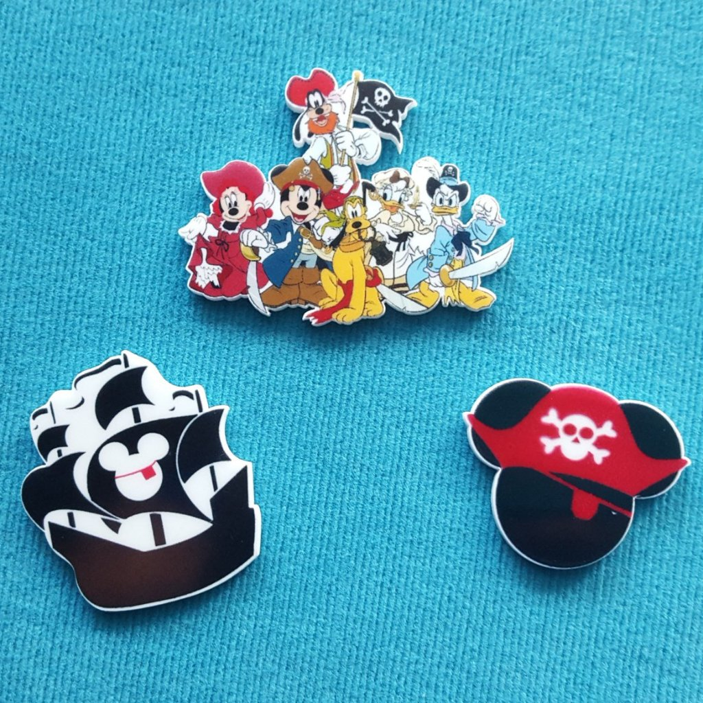 Pirate Mickey Magnet Set for Fish Extender Gift Disney Cruise FE Gift