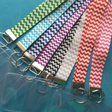 Ribbon Lanyard - Chevron - Many Colors - Cruise - Theme Park - Non-scratchy - Child or Adult