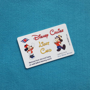 Mickey and Minnie with DCL Logo Disney Cruise Light Card® card key switch activator for Fish Extender FE Gift