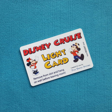 Mickey and Minnie Disney Cruise Light Card® card key switch activator for Fish Extender FE Gift DCL
