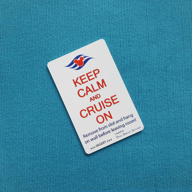 Disney Cruise Light Card® card key switch activator Keep Calm and Cruise on with DCL Logo for Fish Extender FE Gift DCL
