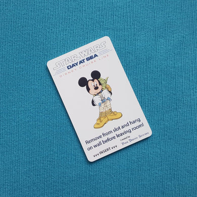 Mickey and Yoda Star Wars Day at Sea Disney Cruise Light Card® card key switch activator for Fish Extender FE Gift