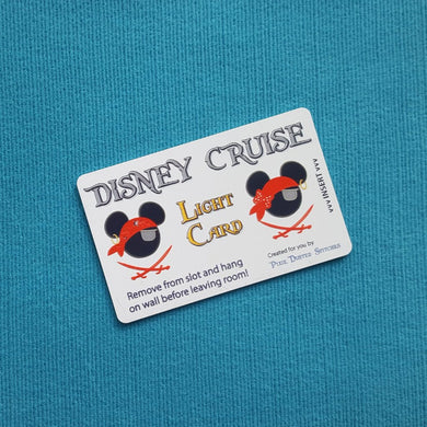 Mickey and Minnie Pirate Disney Cruise Light Card® magic card key switch activator for Fish Extender FE Gift DCL