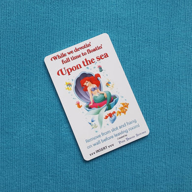 "Little Mermaid Ariel ""Upon the Sea"" Disney Cruise Light Card® card key switch activator for Fish Extender FE Gift DCL"