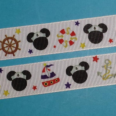 "Nautical Mouse 7/8"" Grosgrain Ribbon -  for Disney Cruise - Mickey - Exclusive DCL Design! Limited!"
