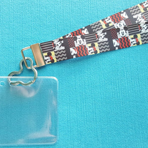 Disney Ribbon Lanyard  - for KTTW card - Disney Cruise - DCL - Graphic Mickey & Minnie - Non-scratchy - Child or Adult