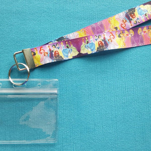 Disney KTTW Card Holder/Lanyard  - Princess - Non-scratchy - Child or Adult