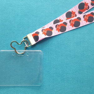 Disney KTTW Card Holder/Lanyard  - Pirate Minnie - Non-scratchy - Child or Adult