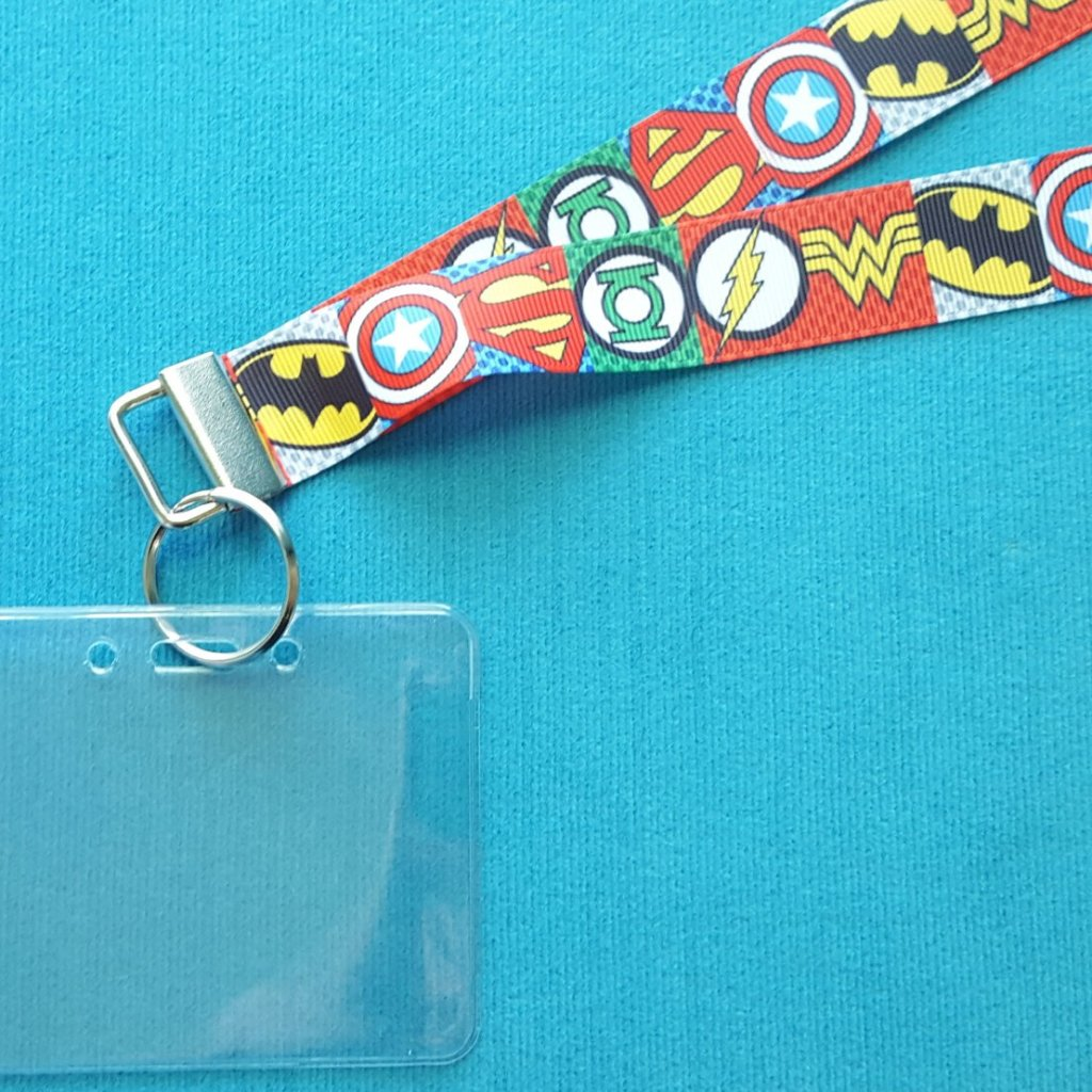 Disney Lanyard - for KTTW Card - Superhero Symbols - Icons - Non-scratchy - Child or Adult