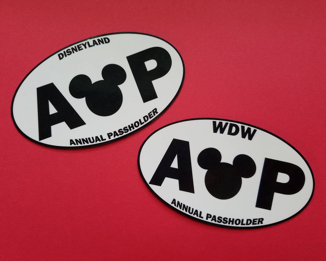 Annual Passholder Bumper Sticker or Car Magnet