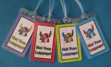 Set of Four Stitch Luggage Tags