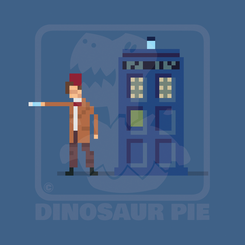 The 11th Doctor with fez and police box