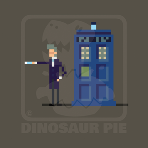 The 12th Doctor with police box