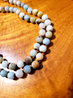 Amazonite matte necklace