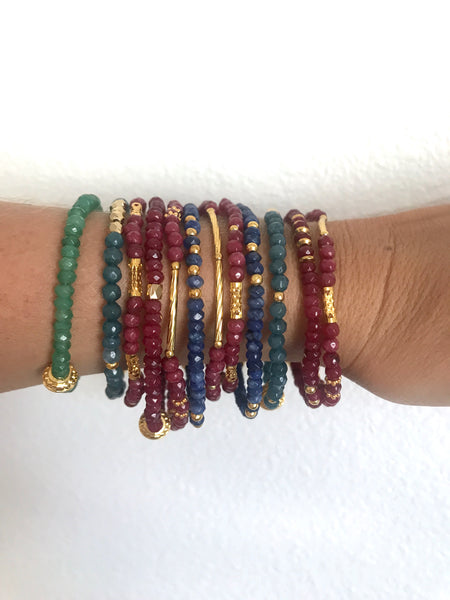 Dainty Beaded Gemstone Bracelets