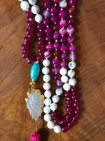 Cotton Candy Mala Necklace