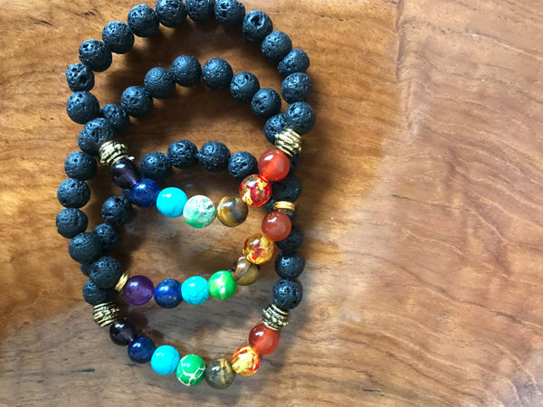 Chakras Stackable Bracelets