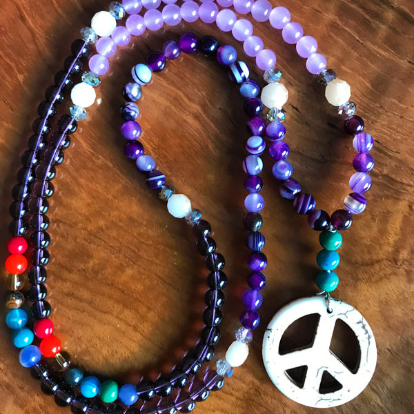 Peace for All Mala Necklace