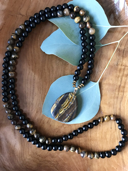 Eye of the Tiger Mala Necklace