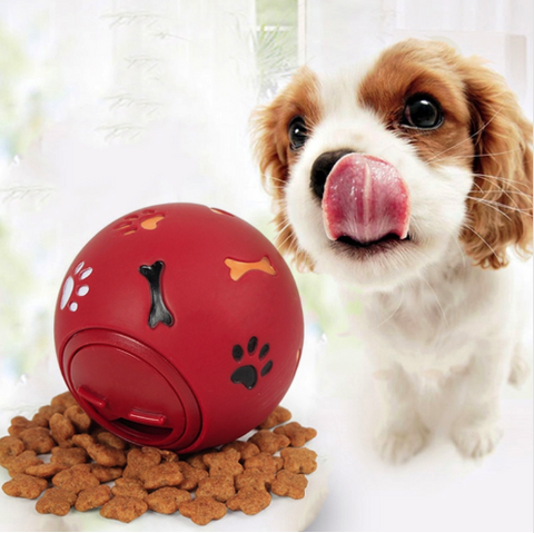 Interactive Dog Rubber Ball - Food Dispenser for your pet