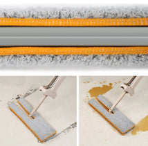 Load image into Gallery viewer, Self-Wringing Double Sided Flat Mop