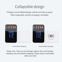 Load image into Gallery viewer, QI Wireless Charger Quick Charge 3.0 Smart USB