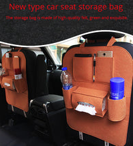 Load image into Gallery viewer, Leather car seat storage
