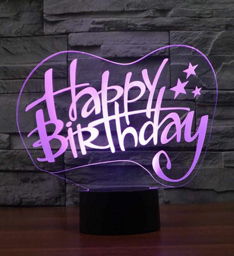 happy birthday 3d light lamp
