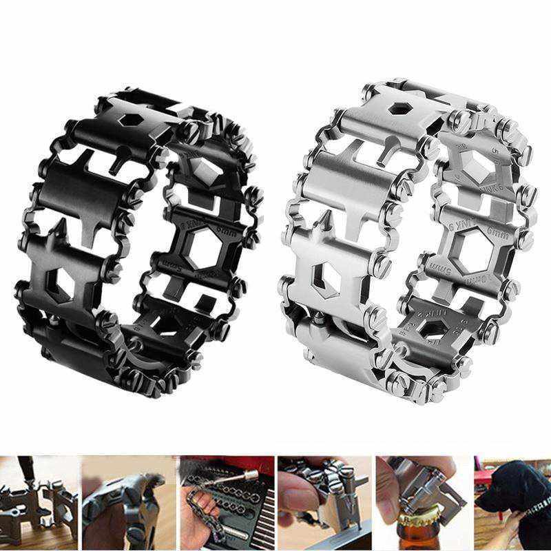 Unisex Stainless Bracelet With Multi tools