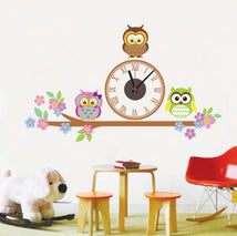 Load image into Gallery viewer, Owl Sticker and Wall Clock