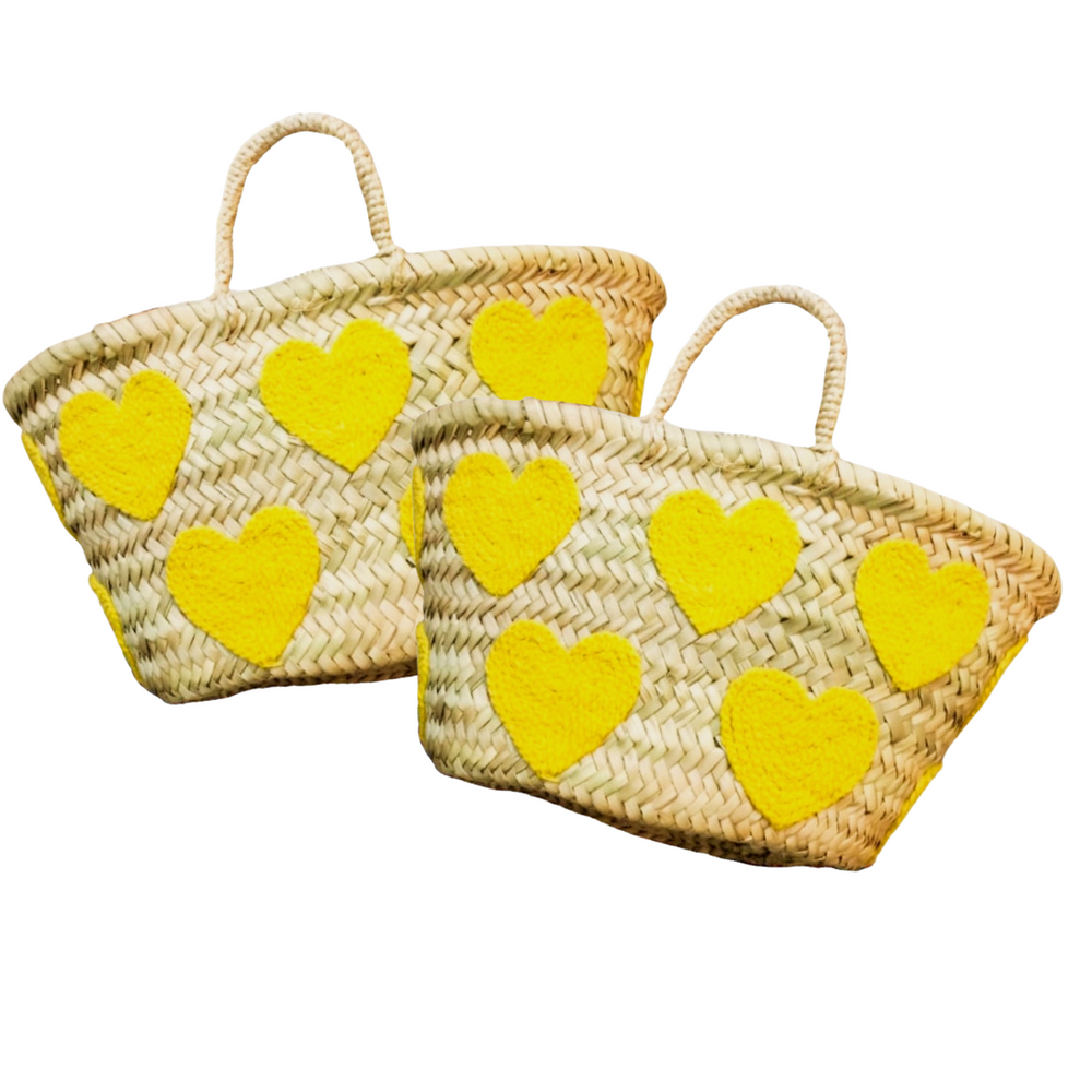 Load image into Gallery viewer, Miracle Mama Mini Yellow Heart Basket