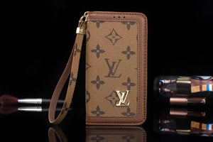 Light Brown Leather Plain Edge Wallet Case iPhone  XR XS XS MAX - Shop Louis Vuitton, Gucci & Hermes phone cases for iPhone & Samsung!