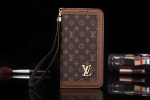 Small Letters Leather Plain Edge Wallet Case iPhone  XR XS XS MAX - Shop Louis Vuitton, Gucci & Hermes phone cases for iPhone & Samsung!
