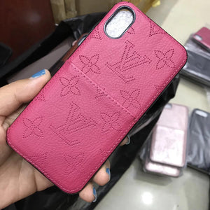 Soft  Leather Case Back Cover iPhone XR XS XS Max - Shop Louis Vuitton, Gucci & Hermes phone cases for iPhone & Samsung!